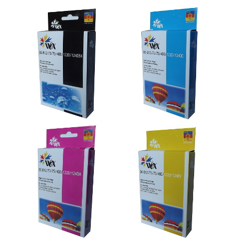 Set of 8 compatible Brother LC73 (2BK/2C/2M/2Y) ink cartridges