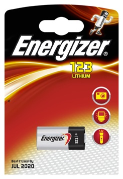 Energizer CR123 Battery, Pack of 1