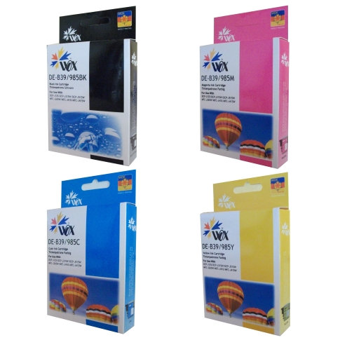Set of 8 compatible Brother LC39 (2BK/2C/2M/2Y) ink cartridges