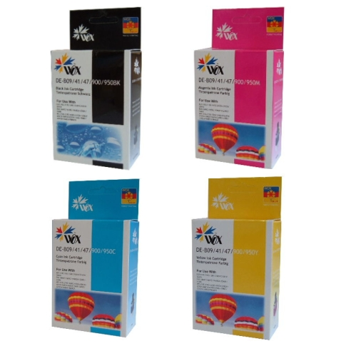 Set of 8 compatible Brother LC47 (2BK/2C/2M/2Y) ink cartridges